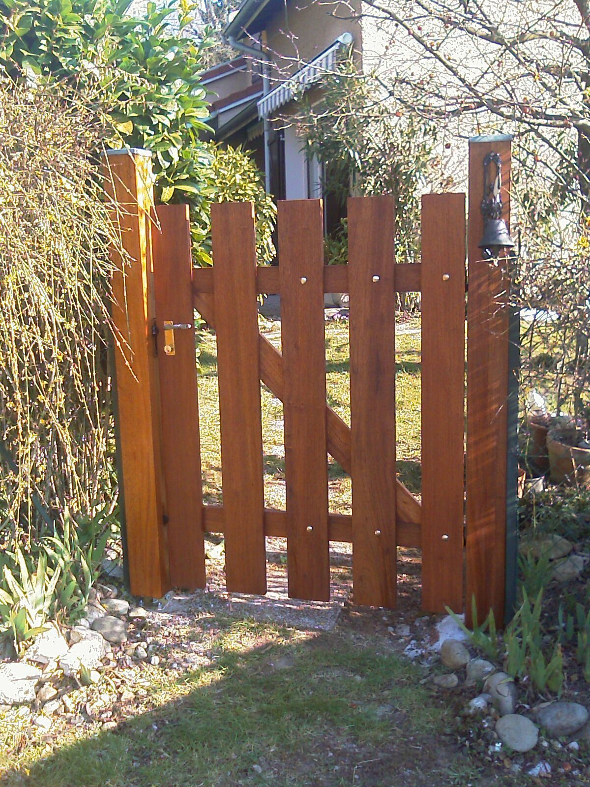 Portillon ext rieur for Porte en bois jardin